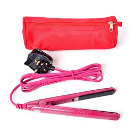 Fuchsia Colour Mini Travel Hair Straightener