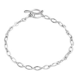 Kimberley Platinum Overlay Sterling Charm Silver Bracelet (Size 7.5), 7.5 grams of Sterling Silver