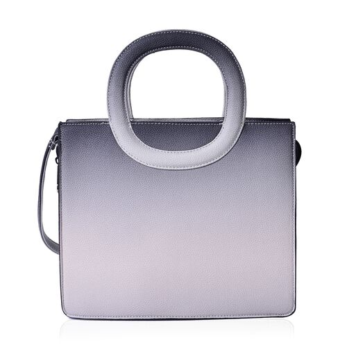Grey Colour Tote Bag with Adjustable Shoulder Strap (Size 29x24.5x11 Cm)