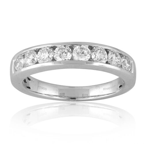 RHAPSODY 950 Platinum IGI Certified Diamond (E-F Clariry VS) Ring  1.000 Ct.