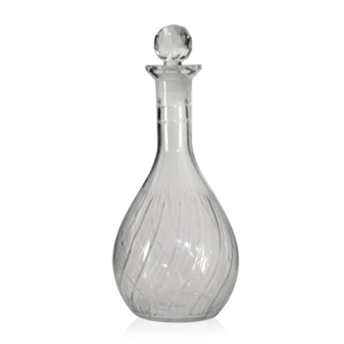 (Option 4) Home Decor - Clear Glass Cognac Shape Decanter with Stopper ( 750 ml.)