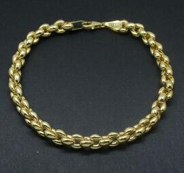 (Option 1) Royal Bali Collection 9K Y Gold Bracelet (Size 7.5), Gold wt 8.00 Gms.