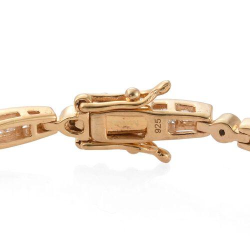 Diamond (Bgt) Bracelet (Size 7.5) in 14K Gold Overlay Sterling Silver 2.000 Ct.