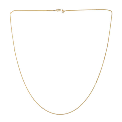 Close Out Deal 14K Gold Overlay Sterling Silver Adjustable Snake Chain (Size 24), Gold wt 3.50 Gms.
