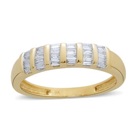 9K Yellow Gold SGL Ceritified Diamond (Bgt) (I3/G-H) Ring 0.250 Ct.