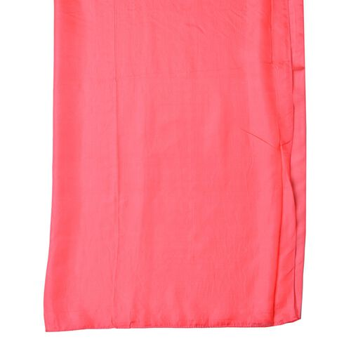100% Mulberry Silk Coral Red Colour Scarf (Size 175X90 Cm)