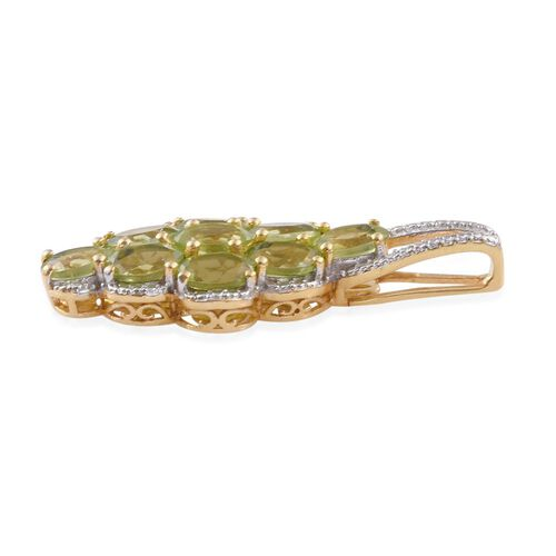 Hebei Peridot (Ovl) Pendant in 14K Gold Overlay Sterling Silver 4.500 Ct.