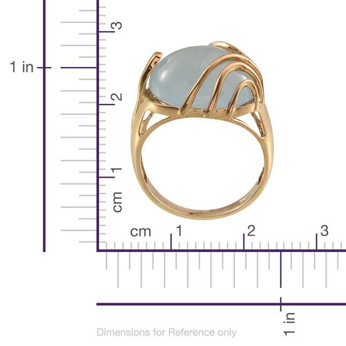 Espirito Santo Aquamarine (Ovl) Solitaire Ring in 14K Gold Overlay Sterling Silver 6.750 Ct.
