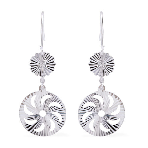 Close Out Deal Sterling Silver Circle Hook Earrings, Silver wt 3.10 Gms.