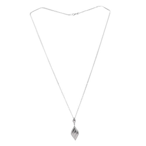 AAA Simulated Diamond (Rnd) Pendant With Chain in Sterling Silver