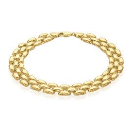 Close Out Deal 9K Y Gold Brick Design Bracelet (Size 8), Gold wt 9.00 Gms.
