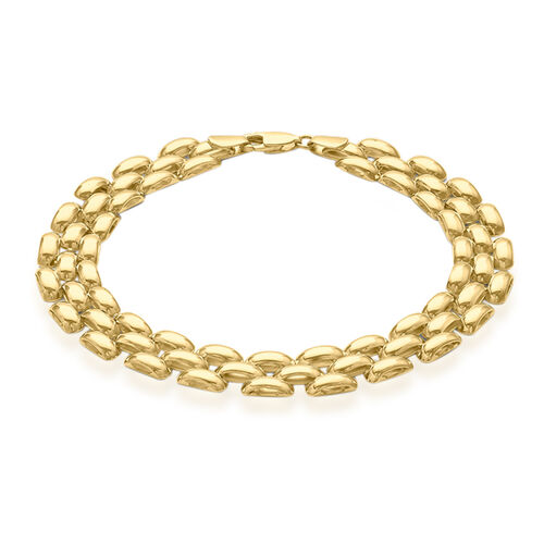 Close Out Deal 9K Y Gold Brick Design Bracelet (Size 8), Gold wt 9.00 Gms.