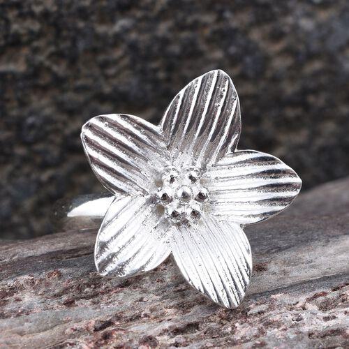 Designer Inspired Sterling Silver Floral Ring, Silver wt 3.34 Gms.