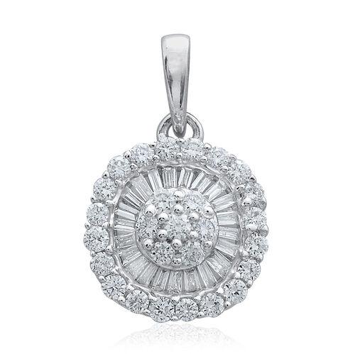 ILIANA 18K W Gold IGI Certified Diamond (Rnd) (SI/G-H) Pendant 0.500 Ct.