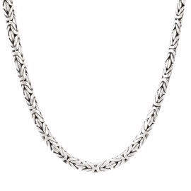 Royal Bali Collection Sterling Silver Handmade Borobudur Necklace (Size 30), Silver wt 107.00 Gms.