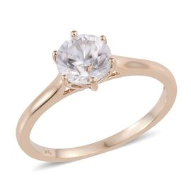 9K Y Gold AAA Natural Cambodian Zircon (Rnd) Solitaire Ring 1.500 Ct.
