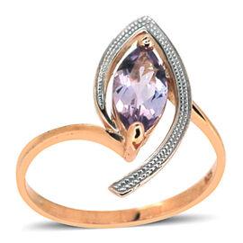 Rose De France (2.25 Ct) Sterling Silver Celebrity Endorsed Ring  2.250  Ct.