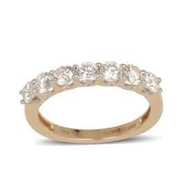 ILIANA 18K Y Gold IGI Certified Diamond (Rnd) (SI/ G-H) 7 Stone Ring 1.000 Ct.
