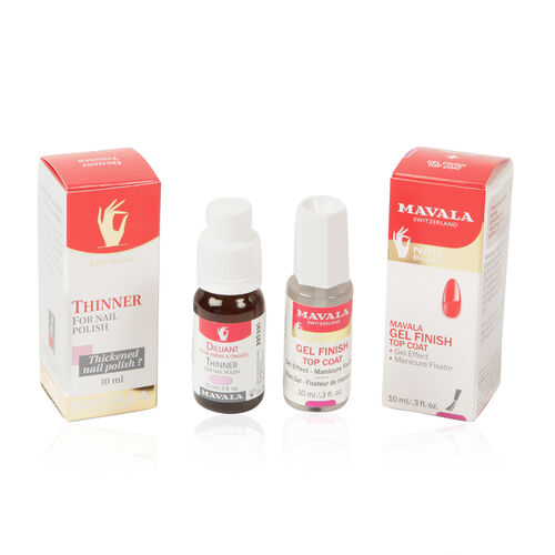 Mavala - Gel Finish Top Coat 10ml & Thinner 10ml