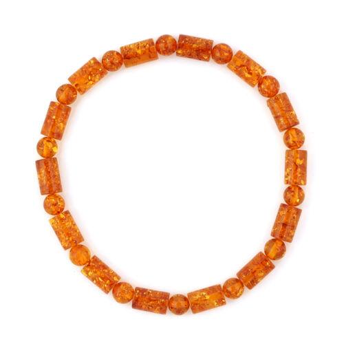 Baltic Amber (Rnd) Stretchable Bracelet (Size 7)