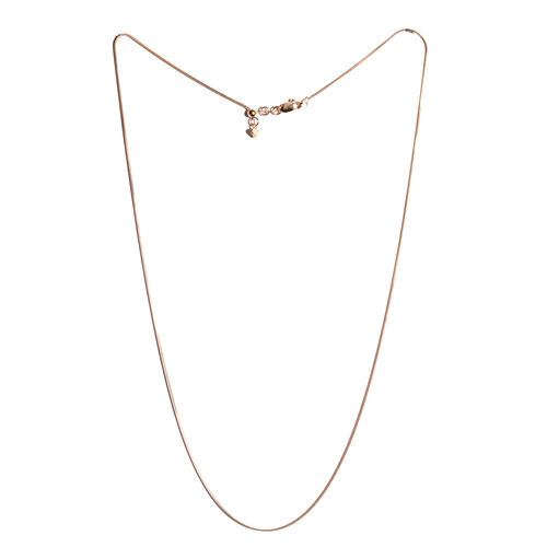 Rose Gold Overlay Sterling Silver Adjustable Snake Chain (Size 24), Silver wt 3.60 Gms.
