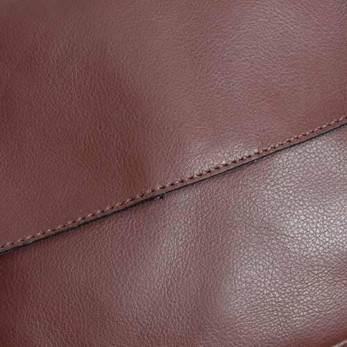 Genuine Leather Burgundy Colour Sling Bag (Size 20 X 22 X 5.5 CM)