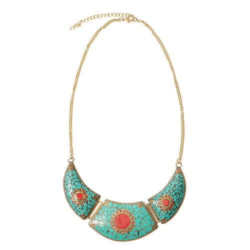Limited Available Jewels of India Brass Necklace (Size 20)