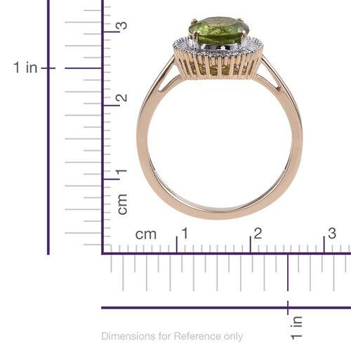 9K Y Gold AAA Hebei Peridot (Ovl 2.80 Ct), Diamond Ring 3.000 Ct.