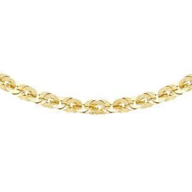 Vicenza Collection - 9K Y Gold Fancy Paillettes Link Necklace (Size 20), Gold wt 5.52 Gms.
