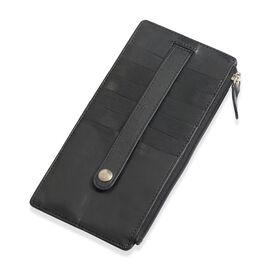 Genuine Leather RFID Blocker Black Colour Ladies Wallet