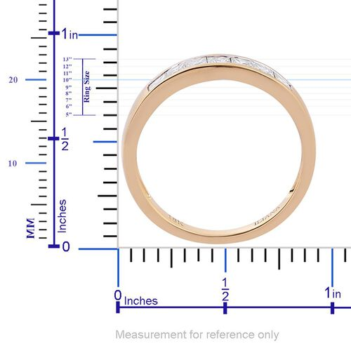 ILIANA 18K Y Gold IGI Certified Diamond (Sqr) (SI/G-H) 7 Stone Ring 0.500 Ct.