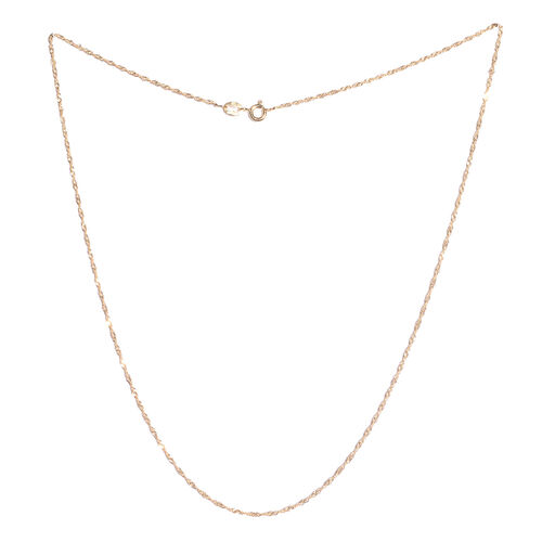 Set of 3- 14K Gold Overlay and Sterling Silver Singapore, Cuban and Diamond Cut Oval Link Chain (Size 18).