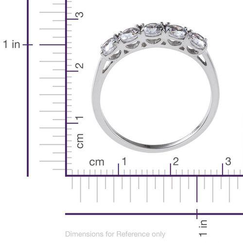 9K W Gold (Rnd) 5 Stone Ring Made with SWAROVSKI ZIRCONIA