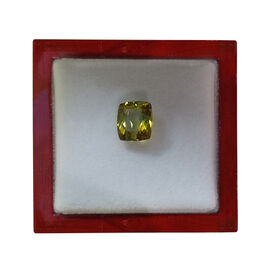 IGI Certified Natural Canary Tourmaline Faceted (Cushion 11.86x10.31 4A) 5.970 Cts (GT12833508)