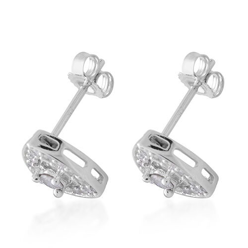 9K White Gold 0.50 Carat SGL Certified Diamond Trillion Stud Earrings (with Push Back) I3 G-H