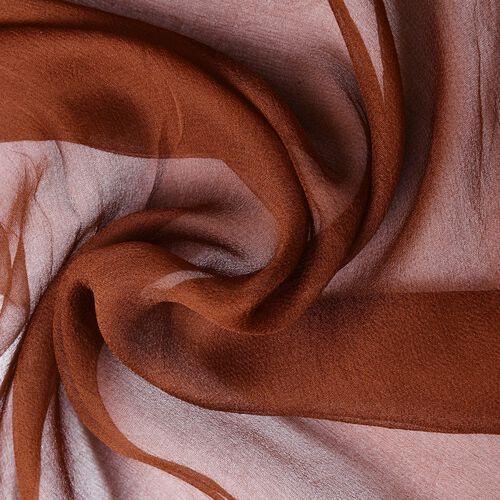 100% Mulberry Silk Chocolate Colour Scarf (Size 170X70 Cm)