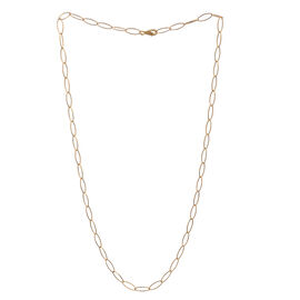 Close Out Deal 14K Gold Overlay Sterling Silver Oval Link Chain (Size 24), Silver wt 5.50 Gms.