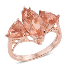 Galileia Blush Pink Quartz (Mrq 3.00 Ct) Ring in Rose Gold Overlay Sterling Silver 5.750 Ct.