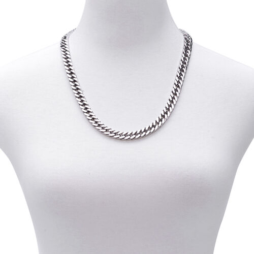 Designer Inspired Stainless Steel Curb Necklace (Size 24)