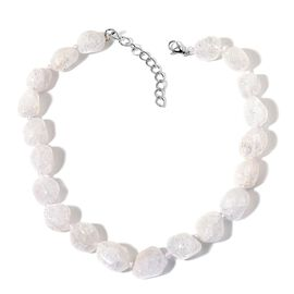 AAA White Austrian Crystal Necklace (Size 18 with 2 inch Extender) in Stainless Steel