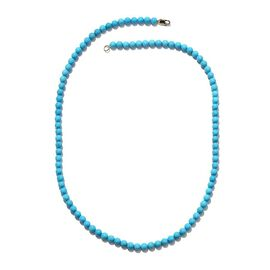 ILIANA 18K Y Gold Arizona Sleeping Beauty Turquoise Necklace (Size 20) 77.400 Ct.