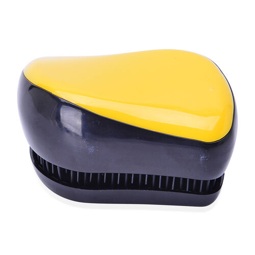Set of 2 - Black and Yellow Colour Styler and Light Chocolate Colour Rainbow Comb with Mirror