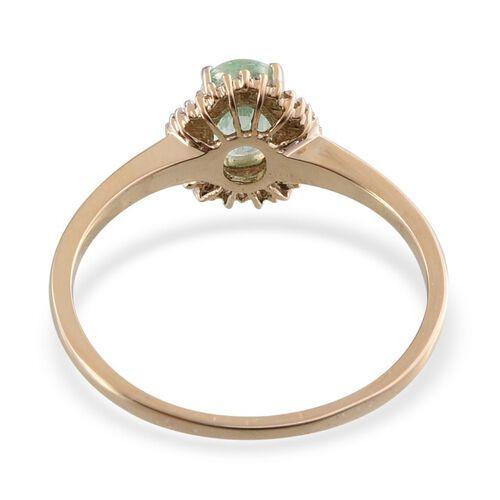 14K Y Gold Boyaca Colombian Emerald (Ovl 0.85 Ct), Diamond Ring 1.000 Ct.