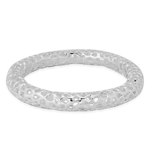 RACHEL GALLEY Sterling Silver Allegro Bangle (Size 8.25 / Large), Silver wt 46.27 Gms.