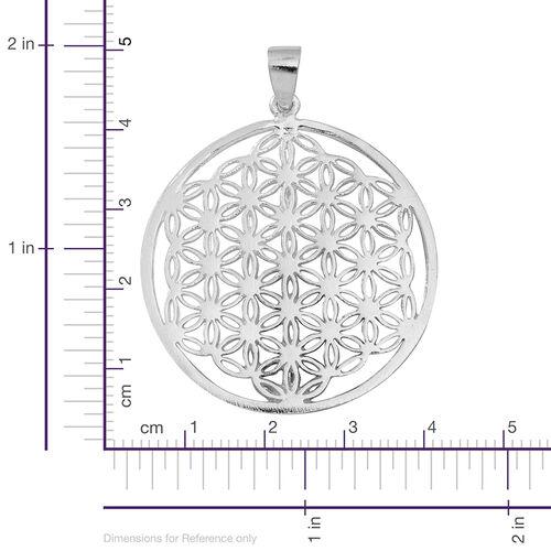 (Option 1) Thai Sterling Silver Floral Pendant, Silver wt 5.50 Gms.
