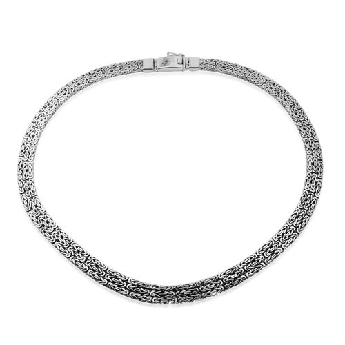 Royal Bali Collection Handmade Sterling Silver Borobudur Necklace (Size 17.5),  Silver wt 67.58 Gms.