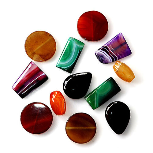 12 pcs Focal Beads (Pre Drilled) Kit 650.000 Ct.
