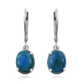 Opalina (Ovl) Lever Back Earrings in Platinum Overlay Sterling Silver 3.000 Ct.