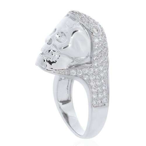 AAA Simulated White Diamond Ring in Silver Tone