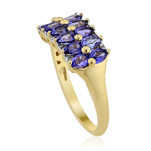 14K Y Gold Tanzanite (Pear) Diamond Ring  1.800 Ct.